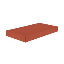 Bellevie Rectangular Connecting Shelf - Red Ochre
