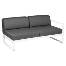 Bellevie 2 Seater Right Module - Cotton White/Graphite Grey