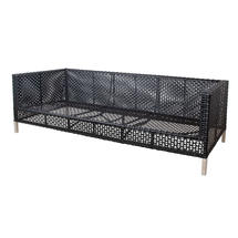 Connect 3-Seater Sofa Frame - Black / Anthracite Weave