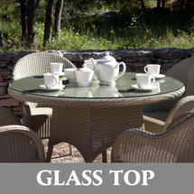Nimes 110cm Dining Table - Glass Top