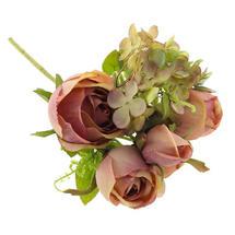 Rose Hydrangea Mixed Spray - Pink