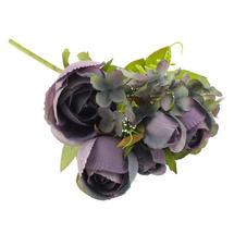 Rose and Hydrangea Mixed Spray - Purple