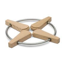 Folding Trivet Oak/Steel