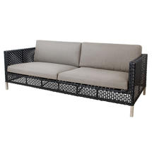 Connect 3-Seater Sofa Open Weave - Taupe Cushions