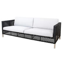 Connect 3-Seater Sofa Open Weave - White Cushions