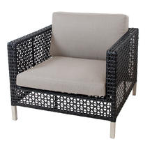 Connect Lounge Chair Frame Open Weave - Taupe Cushions