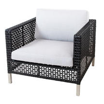 Connect Lounge Chair Frame Open Weave - White Cushions