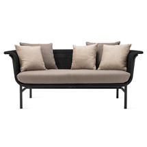 Wicked 2 Seat Garden Sofa - Black