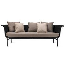 Wicked 3 Seat Garden Sofa - Black