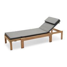 Riviera Lounger Cushion - Charcoal