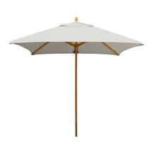 Classic Wood Framed 1.9m Square Parasols - Ice Grey
