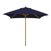 Classic Wood Framed 1.9m Square Parasols - Navy