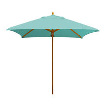 Classic Wood Framed 1.9m Square Parasols - Turquoise