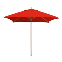 Classic Wood Framed 1.9m Square Parasols - Red
