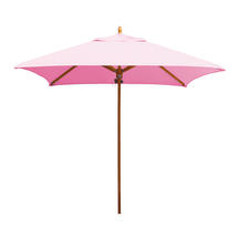 Classic Wood Framed 1.9m Square Parasols - Pink