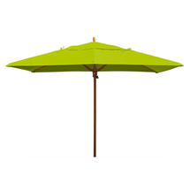 Classic Wood Framed Rectangle Parasols - Lime