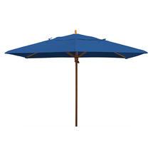 Classic Wood Framed Rectangle Parasols - Royal Blue