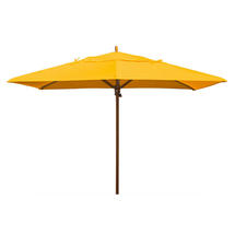 Classic Wood Framed Rectangle Parasols - Yellow
