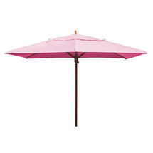 Classic Wood Framed Rectangle Parasols - Pink