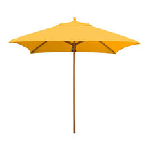 Classic Wood Framed 2.2m Square Parasols - Yellow