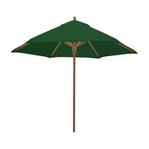 Classic Wood Framed 2.6m Round Parasols - Green