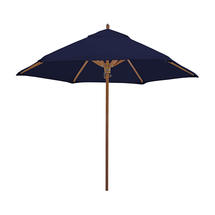 Classic Wood Framed 2.6m Round Parasols - Navy