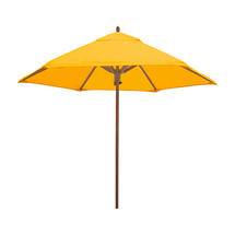 Classic Wood Framed 2.6m Round Parasols - Yellow