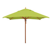 Classic Wood Framed 2.8m Square Parasols - Lime