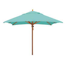 Classic Wood Framed 2.8m Square Parasols - Turquoise