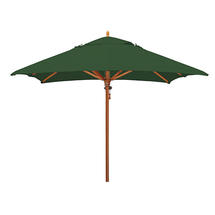 Classic Wood Framed 3.2m Round Parasols - Green