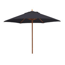 Classic Wood Framed 3.2m Round Parasols - Charcoal