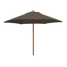 Classic Wood Framed 3.2m Round Parasols - Taupe