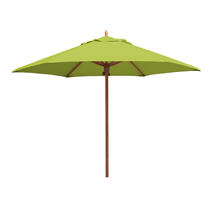 Classic Wood Framed 3.2m Round Parasols - Lime