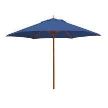 Classic Wood Framed 3.2m Round Parasols - Royal Blue