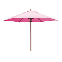 Classic Wood Framed 3.2m Round Parasols - Pink