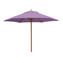 Classic Wood Framed 3.2m Round Parasols - Lilac