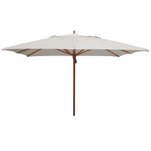 Classic Wood Framed 3.6m Square Parasols - Ice Grey
