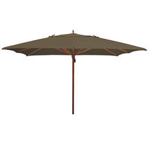 Classic Wood Framed 3.6m Square Parasols - Taupe