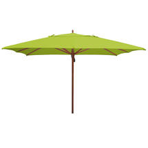 Classic Wood Framed 3.6m Square Parasols - Lime