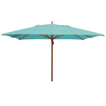Classic Wood Framed 3.6m Square Parasols - Turquoise