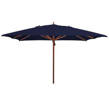 Classic Wood Framed 3.6m Square Parasols - Navy
