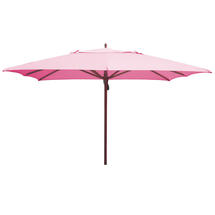 Classic Wood Framed 3.6m Square Parasols - Pink