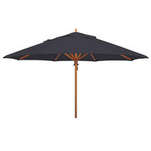 Classic Wood Framed 4.0m Round Parasol - Charcoal