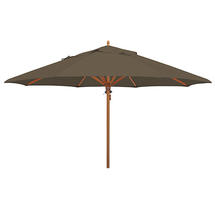 Classic Wood Framed 4.0m Round Parasol - Taupe