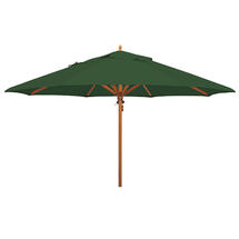 Classic Wood Framed 4.0m Round Parasol - Green