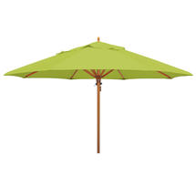 Classic Wood Framed 4.0m Round Parasol - Lime