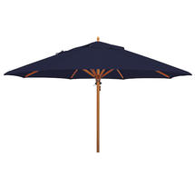 Classic Wood Framed 4.0m Round Parasol - Navy