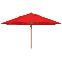 Classic Wood Framed 4.0m Round Parasol - Red