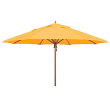 Classic Wood Framed 4.0m Round Parasol - Yellow