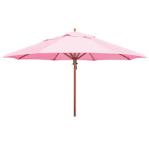 Classic Wood Framed 4.0m Round Parasol - Pink